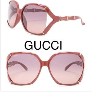 NWT Gucci Square Bamboo Oversized sunglasses